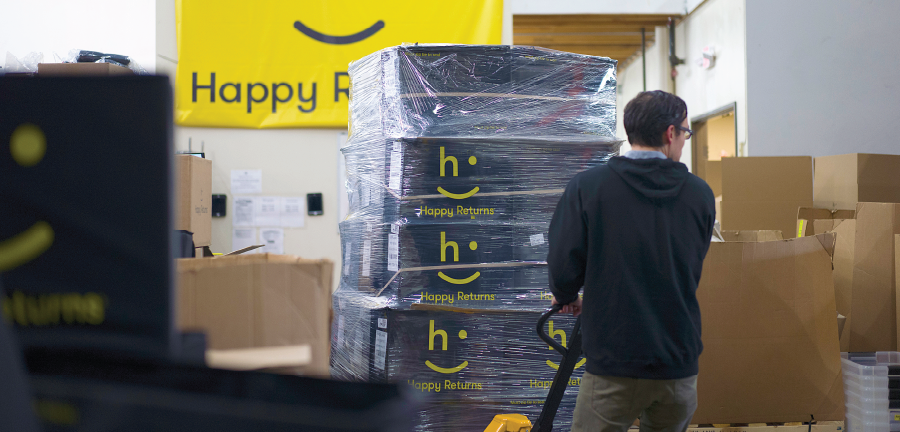 Happy Returns pallets
