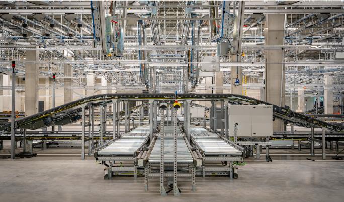 Aerial Shot of new Zalando facility